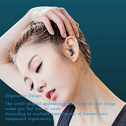 Bluetooth Earbuds, Bluetooth 5.0 Headphones Wireless Earbuds 35H Cycle Playtime in-Ear Wireless Headphones Hi-Fi Stereo Sweatproof Earphones Sport Headsets Built-in Mic for Work/Running/Travel/Gym