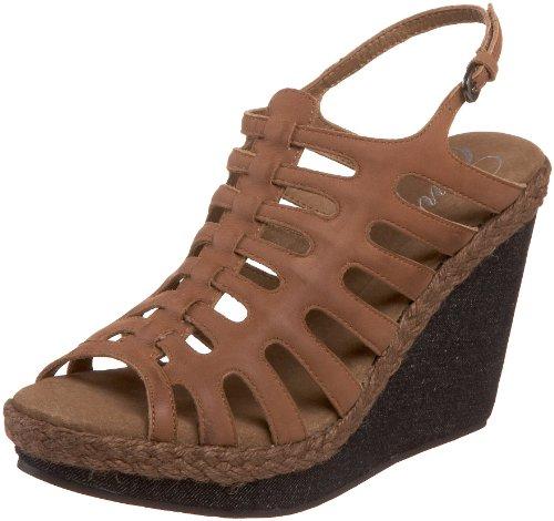 Envy Women's Rollin Wedge Sandal,Brown,9 M US