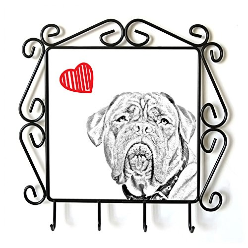 Dogue de Bordeaux, Clothes Hanger with an Image of a Dog and Heart by Art Dog Ltd.
