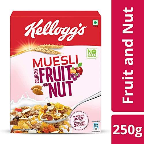 (Kellogg's Healthy snacks Muesli Fruit & Nut, 250 gms)