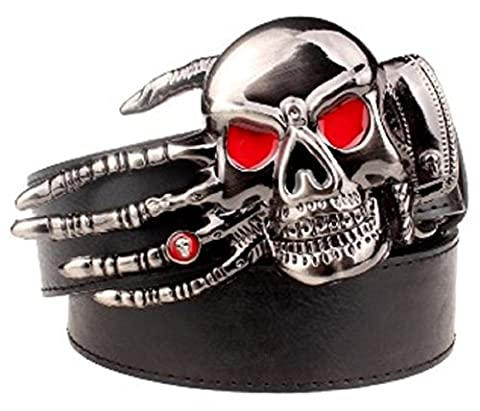 Cool Skull Buckle Belt (A type Black) (Scratch Golf Game Gear)