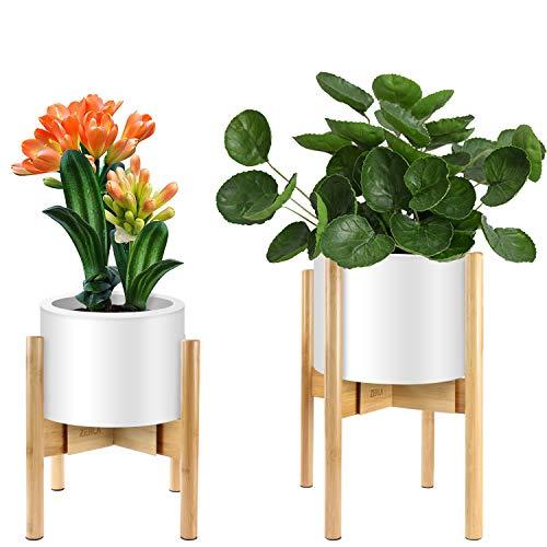 ZERLA 2-Pack Plant Stand - Adjustable Modern Indoor Plant Holder - Planter Fits Medium & Large Pots Sizes - Adjustable Width: 7