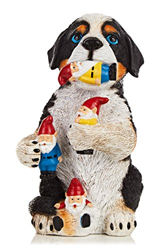 Purple Tree Line Dog Garden Gnome Massacre Statue Figurine Resin 9.7 inches Cute, Funny Decor Accessory for Outdoor, Indoor or Home