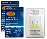 EnviroCare Replacement Vacuum Bags for Sharp Canister Type PC-2 10 Pack