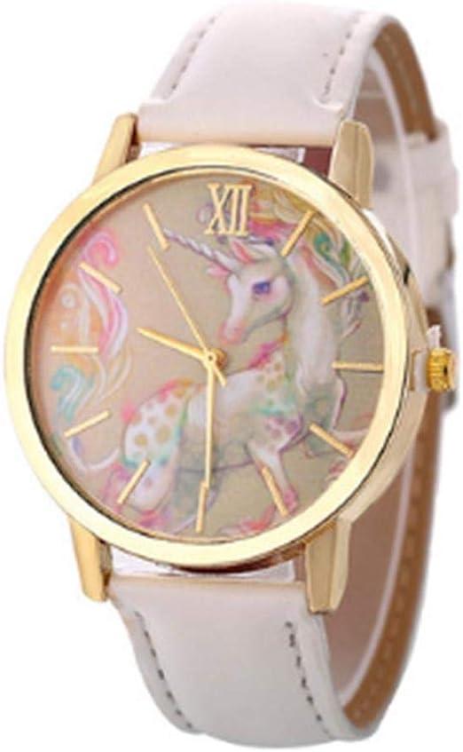 shewt Reloj de Mujer Relojes de Pulsera de Cuarzo de Cuero de Gama ...
