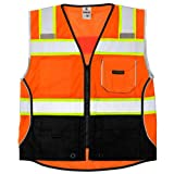 Safety Vest, M, Orange, Male