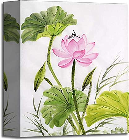 Amazoncom Watercolor Painting Of Lotus Flower Gallery Wrapped