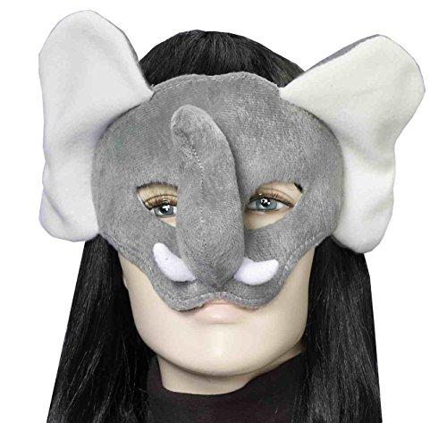 [Forum Novelties Women's Plush Elephant Mask, Gray, One Size] (Elephant Ears And Nose Costume)