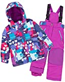 Deux par Deux Girls' 2-Piece Snowsuit Nap On The Floor Purple, Sizes 4-14 - 7