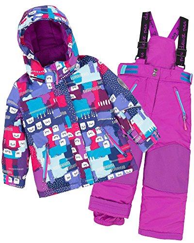 Deux par Deux Girls' 2-Piece Snowsuit Nap on the Floor Purple, Sizes 4-14 - 10 by Deux par Deux