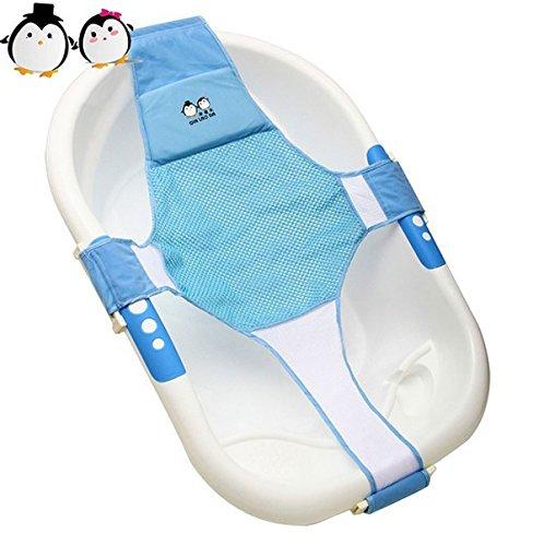 Neugeborene Baby Badesitz StillCool Schätzchen neugeboren Badewanne Sicherheitsbadesitz Unterstützung Babyparty Badezubehör (Blau)