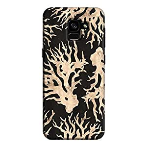 Cover It Up - Black Gold Nature Print Galaxy A5 2018 Hard Case