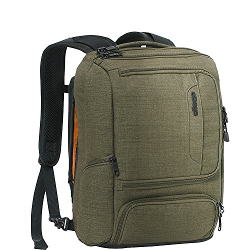eBags Professional Slim Junior Laptop Backpack for Travel, School & Business - Fits 15.75 Inch Laptop - Anti-Theft - (Sage Green)