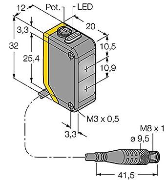 3078213 - q20plpq, Opto sensor Reflexion Barrera de luz con filtro de polarización: Amazon.es: Industria, empresas y ciencia