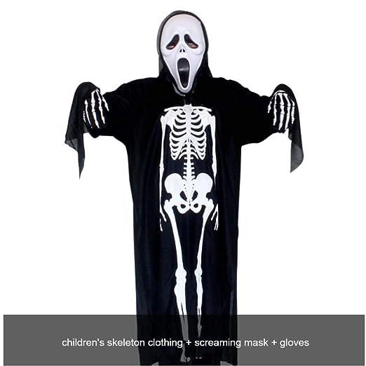 SPFAZJ Horror de niño Esqueleto Fantasma Traje Disfraces ...