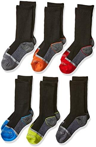 Fruit of the Loom Boys' 6-Pair Half Cushion Crew Socks