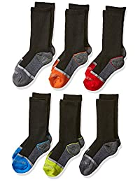 Fruit of the Loom boys 6-pair Half Cushion Crew Socks