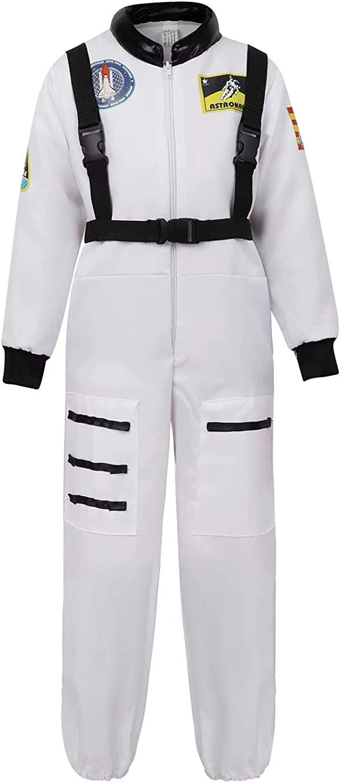 jutrisujo Astronaut Costume for Kids Space Suit Boys Girls Astronaut Halloween Costumes Dress Up