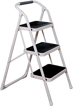 Escalera De 3 Pisos, Escalera Plegable Para El Hogar, Interior Y Exterior De Múltiples Funciones Taburete Con Brazos Y Reposabrazos Altura: 97.5cm (Color : NEGRO): Amazon.es: Bricolaje y herramientas