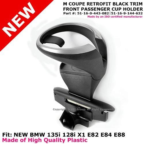 2008 to 2013 08-13 BMW 1 Series E82 E84 E88 M Front Passenger Side Retrofit Cup Holder Black