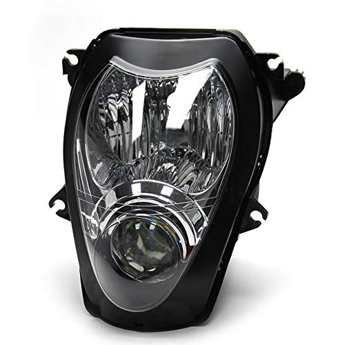 (Motorcycle Front Headlight HeadLamp Assembly Fit for Suzuki Hayabusa GSXR1300 GSX1300R 1999-2007)