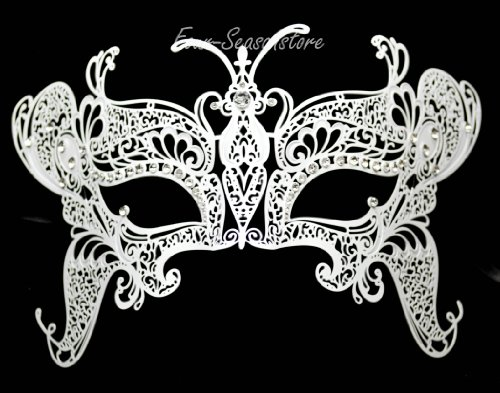 New Magical Butterfly Mask Laser Cut Venetian Halloween Masquerade Mask Costume Extravagant Inspire Design - (Extravagant Masquerade Masks)