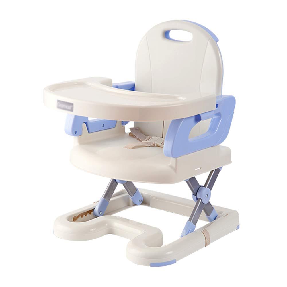 ベビーチェア ベビーブースターシート折りたたみ小さなダイニングスツールポータブル子供ダイニングチェア幼児の椅子を食べる (色 : 青)  青 B07GR4CC7S