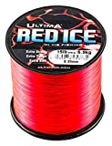 Ultima Red Ice Strong Hi Vis Sea Fishing Line - Fluo Red, 0.45 mm - 25.0 lb