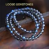 Genuine Round Labradorite Bracelet 6MM Lot of 3 Bracelet AAA Grade Blue Moonstone Round Beads, Rainbow Moonstone Jewelry, Gemstone Beads Healing Stones