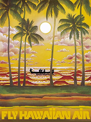 A SLICE IN TIME Hawaii Fly Hawaiian Air Cruise United States America Travel Advertisement Poster. Poster measures 10 x 13.5 inches (Travel Poster Hawaii)
