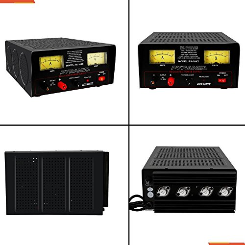 Pyramid Bench Power Supply | AC-to-DC Power Converter | 32 Amp Power Supply with Adjustable Voltage Control (PS36KX) by Pyramid (Image #1)