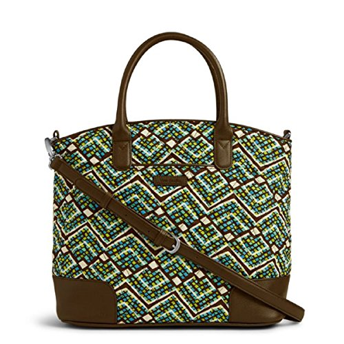 - Vera Bradley Day Off Satchel in Rain Forest Brown