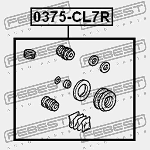 BREMSSATTEL HINTEN REPARATURSATZ Febest 0375-CL7R