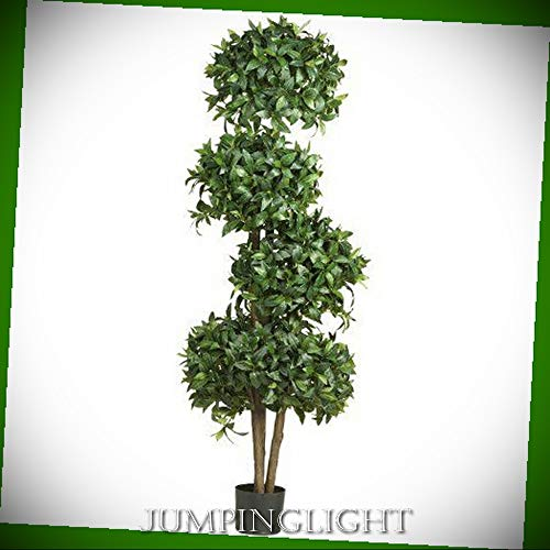 - JumpingLight 5244 69'' Sweet Bay Topiary with 4 Balls Silk Tree Artificial Flowers Wedding Party Centerpieces Arrangements Bouquets Supplies