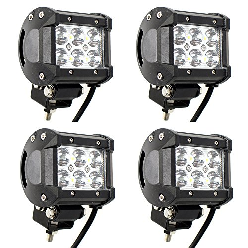 TMH 4 X 18w 1260lm Cree Spot Led Work Light Bar for Off-road SUV Boat 4x4 Jeep Lamp