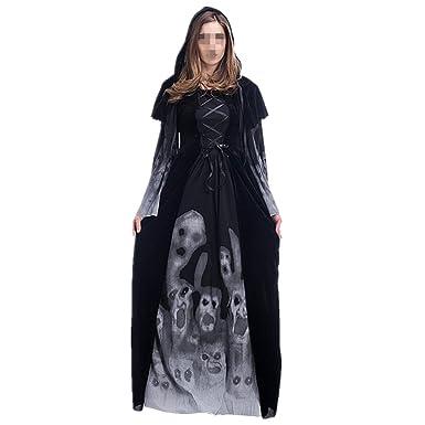 Disfraz de Bruja Mujer Cosplay Vampiresa novia cadaver Halloween ...