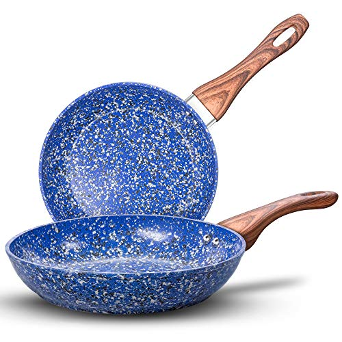MICHELANGELO Nonstick Frying Pans, Granite Frying Pans with Stone-Derived Coating, Stone Fry Pan Nonstick, Stone…