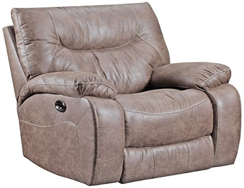 Simmons Upholstery 50250PBR-195 Topgun Saddle Topgun Saddle Power Cuddler Recliner, Brown