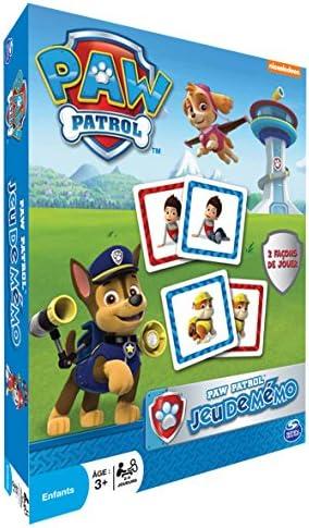 La Pat Patrouille 6028801 Paw Patrol Jeu de Memo Mini Valisette M/étal