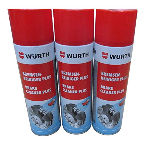 wurth brake cleaner plus 500 ml x 3