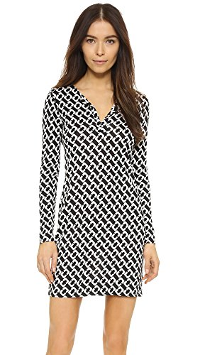 Diane von Furstenberg Women's Reina Dress, Chain Link Medium, (Diane Silk Jersey Dress)