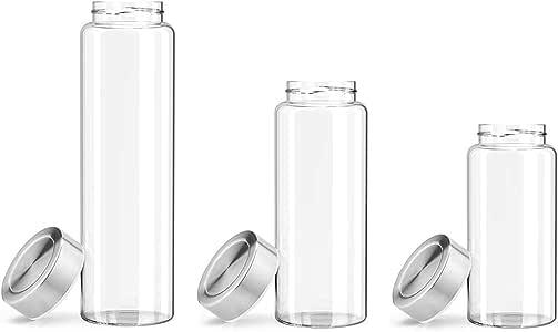 Zenbo - Botella de Agua de Cristal de 325 ml (26 oz), 100% Vidrio ...