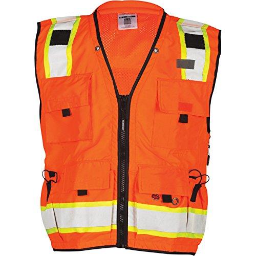 ML Kishigo S5001 Professional Surveyors Vest - Class 2 Small Orange