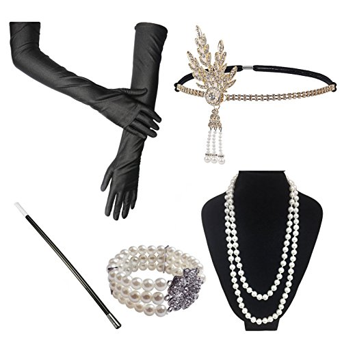(iLoveCos Womens 1920s Fashion Great Gatsby Flapper Costume Accessories)