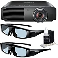 Panasonic PT-AE8000U 1080p Full HD 3D Home Theater Projector + 2 Pairs of Panasonic 3D Glasses + Deluxe 3pc Lens Cleaning Kit DavisMax Bundle