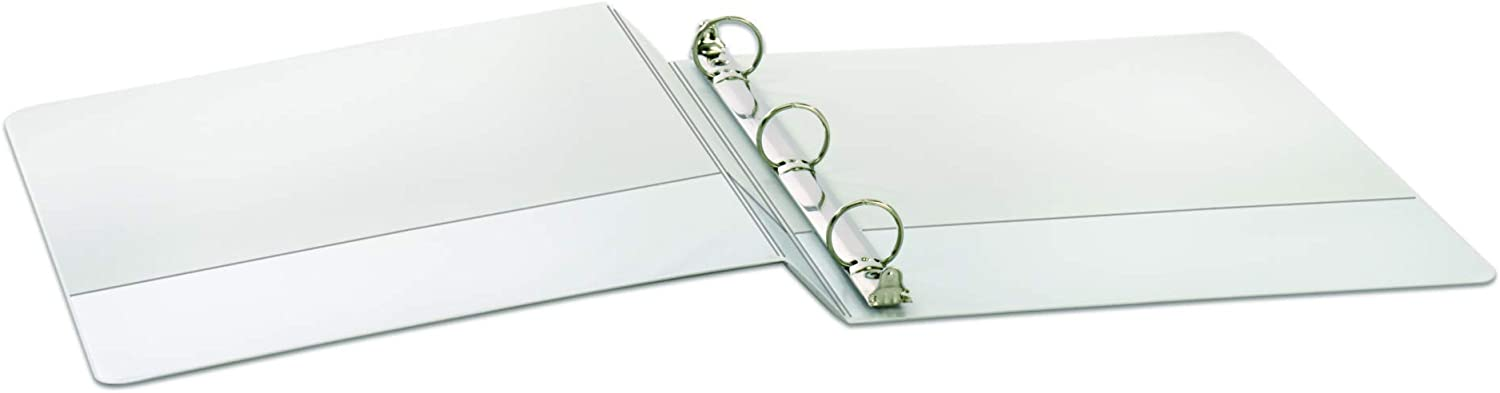 White 00430 Nonstick Poly Material 3-Ring Binder 4-Pack Holds 625 Sheets Renewed Cardinal 3 Round-Ring Presentation View Binders PVC-Free
