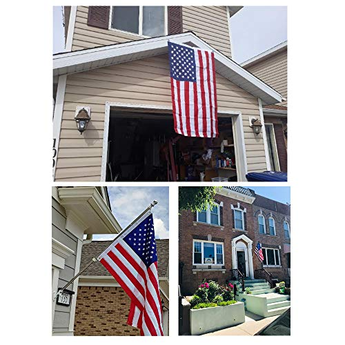 American Flag-3x5 Foot US Flag,Bright Color and UV Fade Resistant,Premium Double-Stitched Edges,Brass Grommet for Outdoor,Garden,Indoor(2pcs)