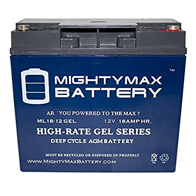 12V 18AH GEL Battery for Rescue Pack 1800 Jump Starter - Mighty Max Battery brand product