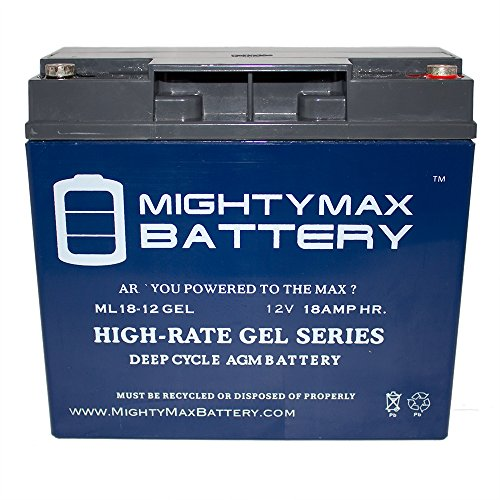 12V 18AH GEL Battery for Swisher 24 HP Kawasaki Riding Mower - Mighty Max Battery brand product Suitable Price