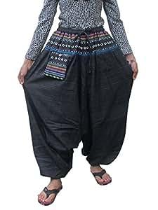 Harén pantalones pantalones diseño de rayas algodón Hippy Hippie Boho Genie Ali Baba Aladdin